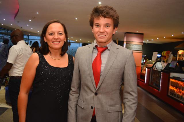 Belgium ambassador Roxane de Bilderling with her son Robin Laime.