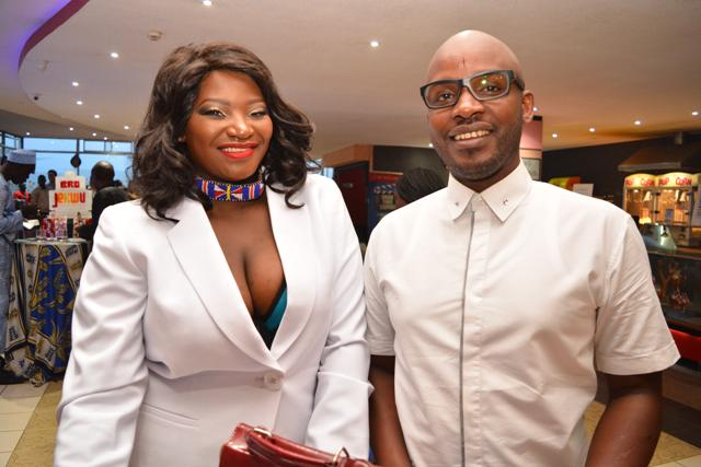 Bro Jekwu Producer Juliet Achieng with Hairstylist Richard Kinyua.
