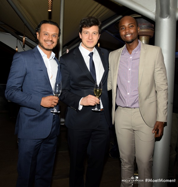 Rupen Samani, Pierre Louis Moet & Chandon Global Brand Ambassador and Nick Mutuma
