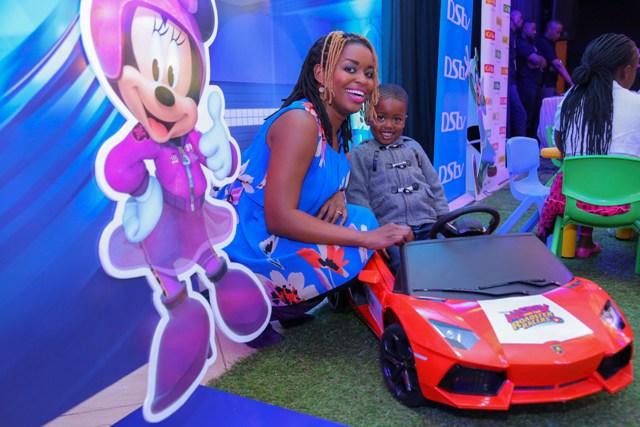 Radio Maisha's, Mwende Macharia and her son, Champion.