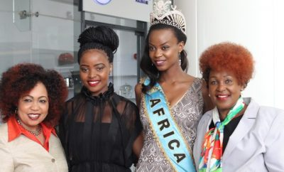 Mrs Terry Mungai Miss World Kenya Franchise Director, Idah Nguma Miss Wo...