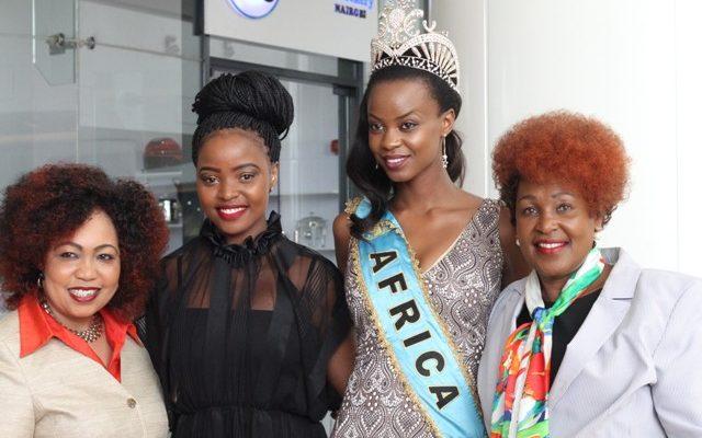 Mrs Terry Mungai Miss World Kenya Franchise Director, Idah Nguma Miss Wo...