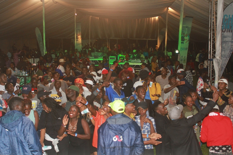 Revellers thronged Kisii sports club for Chrome Vodka mega bash