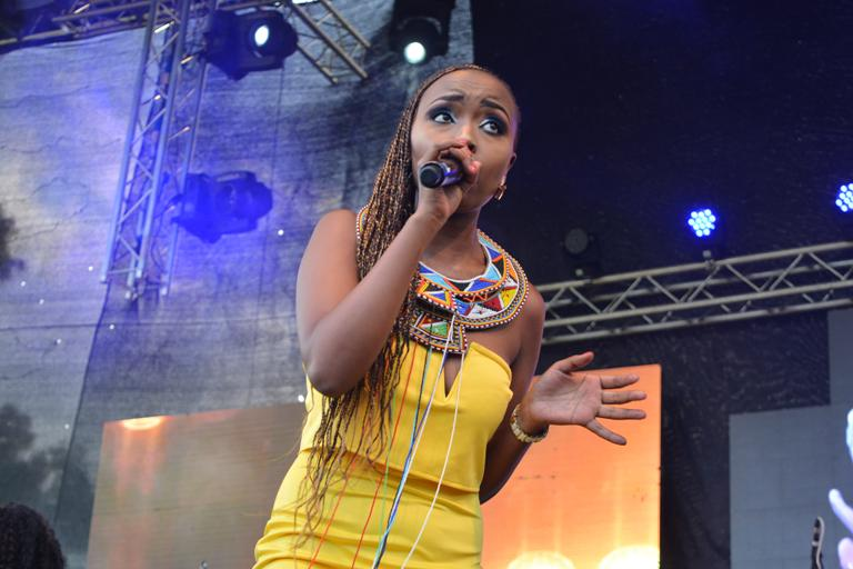 Singer Ivlyn Mutua.