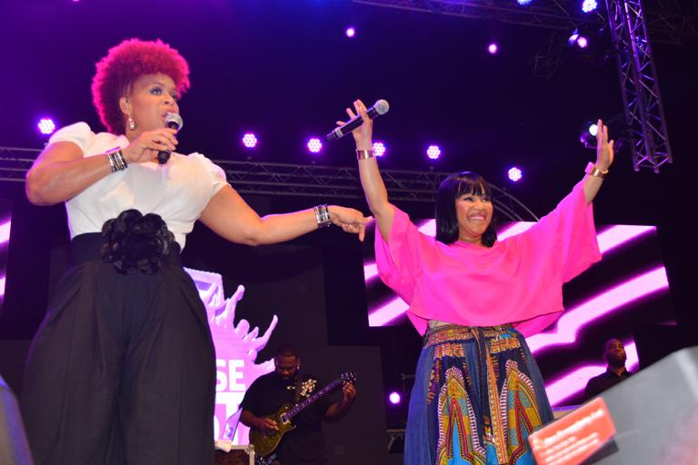 U.S. Gospel Duo Mary Mary.