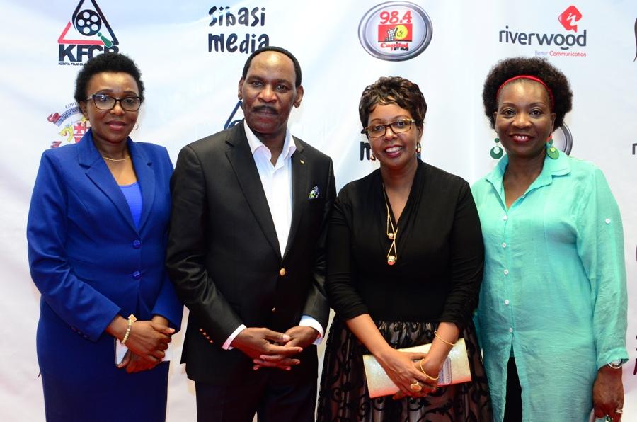 Nelly Muluka Corporate Communications Director, KFCB, Dr. Ezekiel Mutua CEO KFCB, Mrs. Mbugua Principal Loreto Convent Msongari and Mrs Betty Midiwa Former Parent- Loreto Convent Msongari.