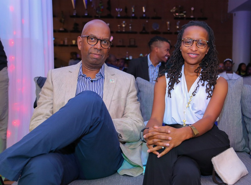Safaricom CEO & also Safaricom International Jazz Founder, Bob Collymore, with his wife, Wambui Kabiru.