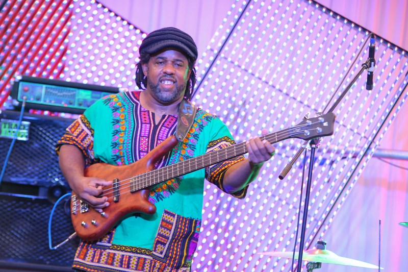 Victor Wooten, on the Bass guitar.