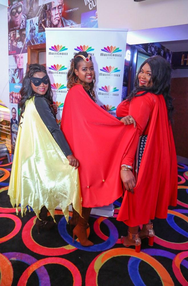 Catherine Kamau, Amina Rabar and Naomi Ng'ang'a