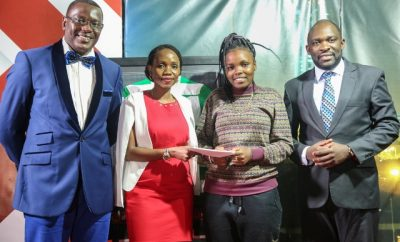 Talanta Mtaani winner receiving the award