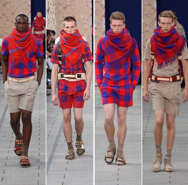 Louis Vuitton fashion show showcasing a Maasai inspired collection.