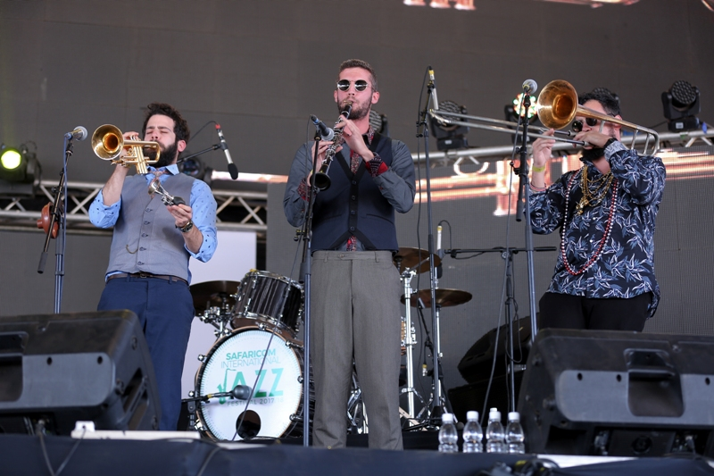Betty Bears jazz band performs at the Safaricom International jazz festival.