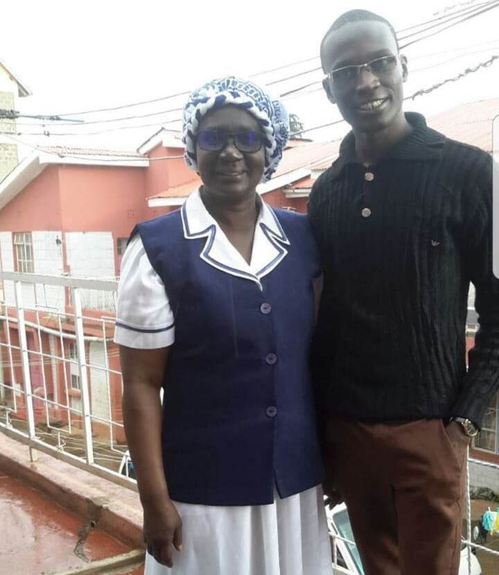 Promoter Tikolo Keith and his mum,