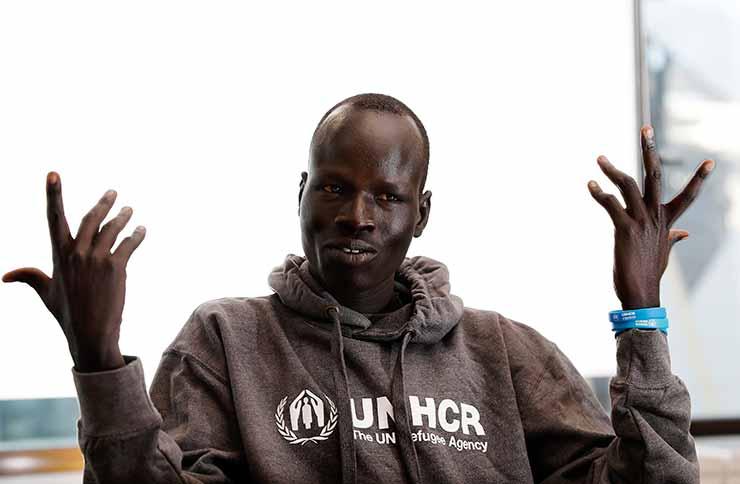 Pur Biel a South Sudanese athlete.