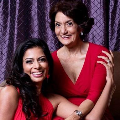 Pinky Ghelani and Mom