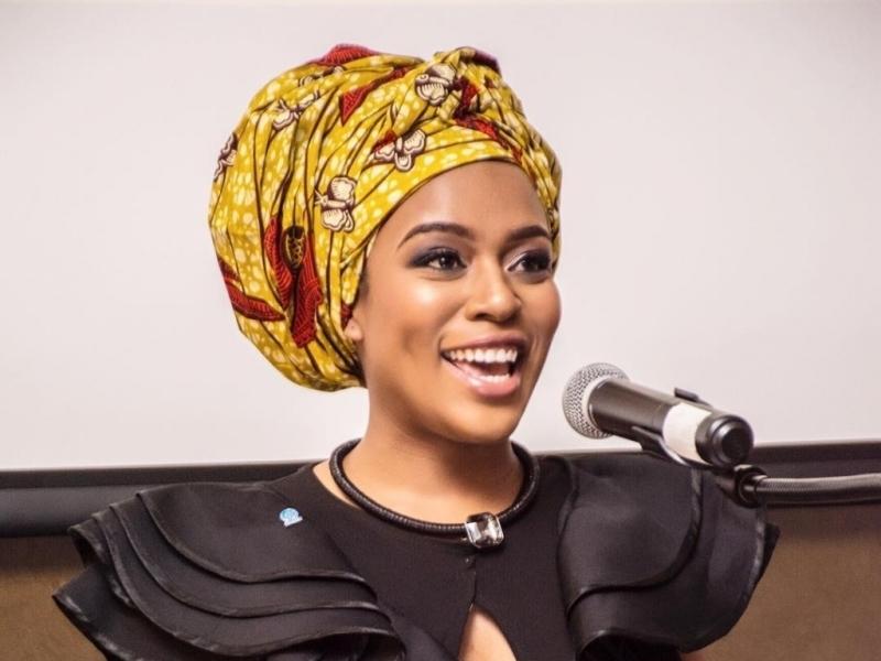 South African actress Nomzamo Mbatha.