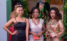 Sarah Hassan, Anitah Nderu and a friend at the launch of the Dettol Even Tone Pomegranate launch