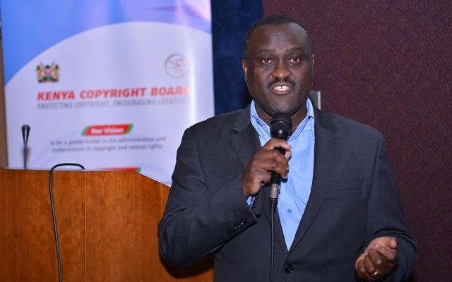 Edward Sigei- Executive Director KECOBO during the Kenya Copyright Board Public Participation(1)