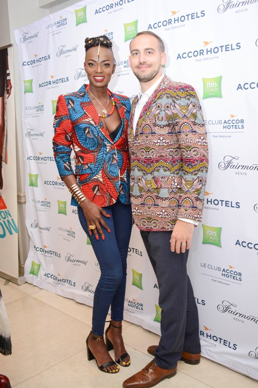 Founder Mochez Models Dorothy Oliech and Guillaume Durand group director sales and marketing Fairmont.