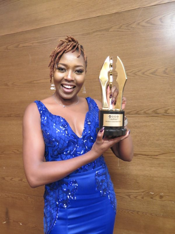 Nyce Wanjeri won Best Actress in a comedy and TV Series.