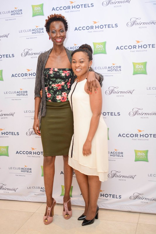 Nailantei Kenga head of marketing Carole Mandi Media and Njeri Chege group communications manager Fairmont.