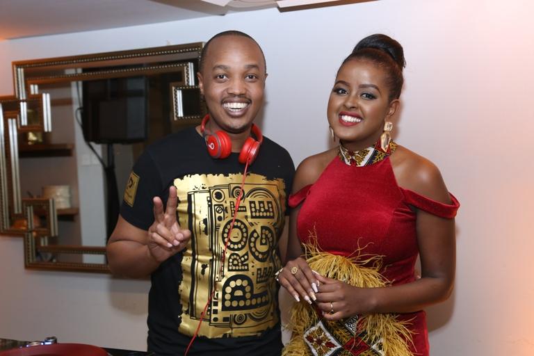 DJ Protege with MC & Radio Personality Amina Abdi.