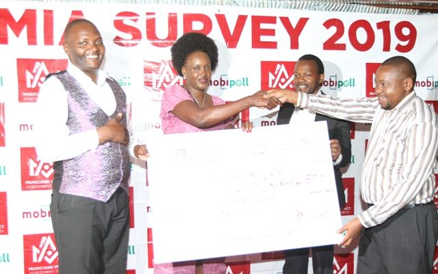 Celstine Aura (2nd left) with MIA survey board members Daniel Musembi, Amos Mirera, Ben Nginjiri