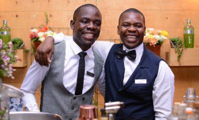 Mixologists Joshua Wesonga and Evans Odhiambo