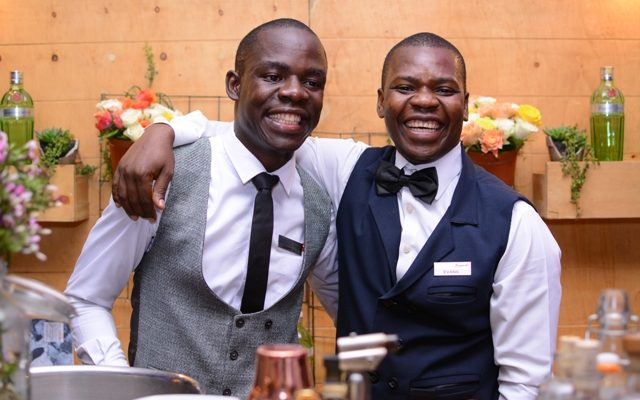 Mixologists Joshua Wesonga and Evans Odhiambo
