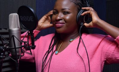 MERCY MASIKA, ARIEL BRAND AMBASSADOR, RECORDING THE ARIEL JINGLE IN STUDIO