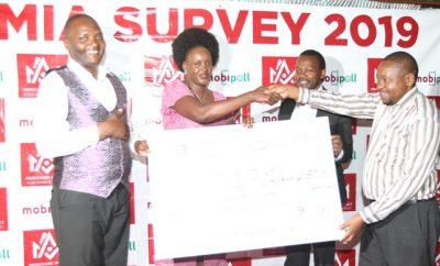 Celstine Aura (2nd left) with MIA survey board members Daniel Musembi, Amos Mirera, Ben Nginjiri